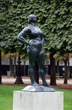 Standing woman. Statue in Tuileries Garden Royalty Free Stock Photography