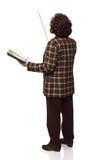 Standing woman teacher Stock Photo