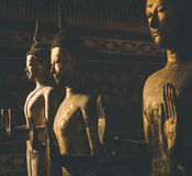 Standing wooden buddha Royalty Free Stock Photography