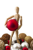 Standing wooden dummy IV Stock Image