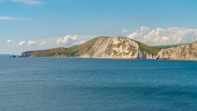 Worbarrow Bay, Jurassic Coast, Dorset, UK. Standing on Worbarrow Bay, near Tyneham, Jurassic Coast, Dorset, UK - looking west Stock Image