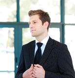 Standing young businessman Stock Image