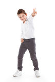 Standing young cool boy Stock Images