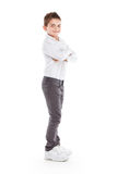 Standing young cool boy Royalty Free Stock Images