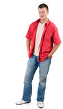 Standing young man Royalty Free Stock Photos