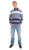 Standing young man in casual clothes Royalty Free Stock Photography