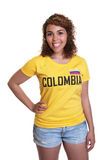 Standing young woman from Colombia Royalty Free Stock Photo