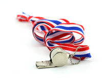 Standless whistle with Thailand national flag lanyard in heart s Stock Photo