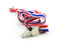 Standless whistle with Thailand national flag lanyard in heart s Stock Images