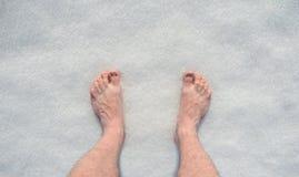 Stando nella neve Fotografia Stock
