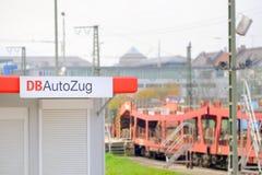 Standort DBs Autozug Stockbild