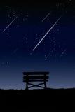 Standort für das Betrachten des Meteors. Lizenzfreie Stockfotografie