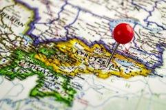 Standort im Kartenpunkt Kirgisistan Stockbild