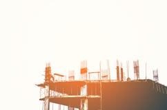 Standortbau mit Weinleseton am Evenning Lizenzfreie Stockbilder