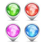 Standortmarkierungen eingestellt Lizenzfreie Stockbilder