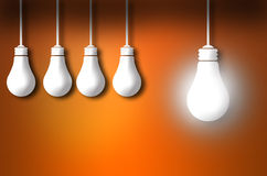 Standout idea bulb concept Royalty Free Stock Photography
