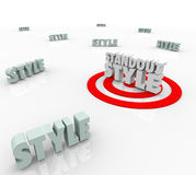 Standout Style Best Target Many Different Unique Trend Design Ch Stock Images