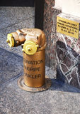 Standpipe connection, manhattan, new york Stock Images