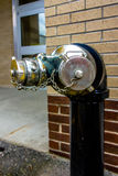 Standpipe with siamese connection device for fire hoses Stock Images