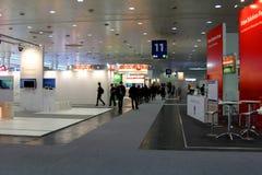 Standplatz der Moskau-Stadt in der CEBIT-Computerausstellung Lizenzfreies Stockbild