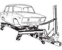 Standplatz für Ausrichtung der Autokarosserie Lizenzfreies Stockbild