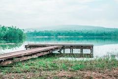 Standpunkt auf Chakrapong-Reservoir KHO ITO-Wasserfall lizenzfreies stockbild