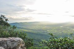 Standpunkt auf dem Berg Stockfoto