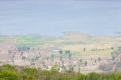 Standpunkt auf die Oberseite des Berges. Stockfotografie