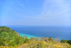 Standpunkt Chado-Klippe auf Adang-Insel Lizenzfreies Stockbild