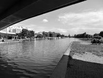 Standpunkt des Kanals Stockbild