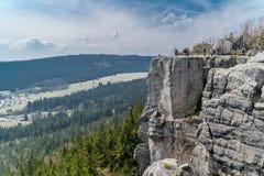 Standpunkt in Gory Stolowe, Polen Lizenzfreie Stockfotos