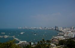 Standpunkt in Pattaya Stockbild