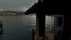 Standpunkt am Rand des Meeres in Pasajes De San Juan 10 stock video
