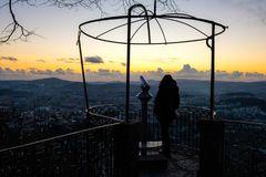 Standpunkt-Schongebiet von Bom Jesus de Braga Stockfotos