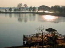 Standpunkt und entspannen sich Ufergegend, allgemeines Rasthaus Lizenzfreies Stockbild