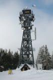 Standpunkt und Fernsehturm Stockbild