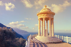 Standpunkt von es Galliner im Sohn Marroig auf dem Mittelmeer, De stockfoto