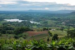 Standpunktanziehungskraft von Wanne Khaoko und Phu Berg, Phetchabun, Th Stockfoto