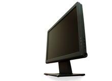 Standpunt - moderne brede LCD geïsoleerdel monitor stock foto
