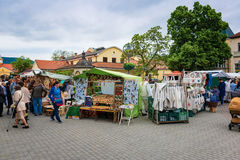 Stands during the artisan festival in Piestany Royalty Free Stock Images