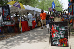 Stands At Crawfish Festival Royalty Free Stock Photography