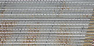 Stands and the bleachers without people at stadium Stock Photos
