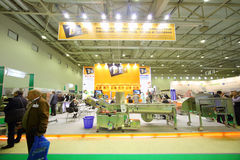 Stands of companies at AgroProdMash Stock Photos