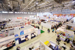 Stands of companies on Moscow International book exhibition Stock Photography