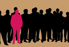 Stands out stock illustration