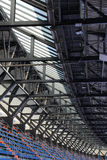 Stands and roof of a stadium, perspective Royalty Free Stock Photo