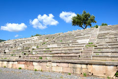 The stands on stadium in ancient Messene (Messinia) Stock Photography