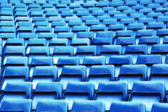 Stands of a stadium, with rows of seats Royalty Free Stock Photography