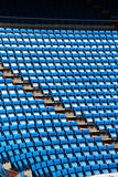 Stands of a stadium, with rows of seats Stock Image