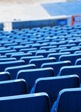 Stands of a stadium, small depth of field Stock Photo